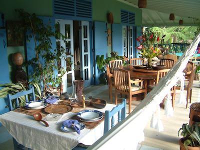 Harmony Villa Dominica restaurant